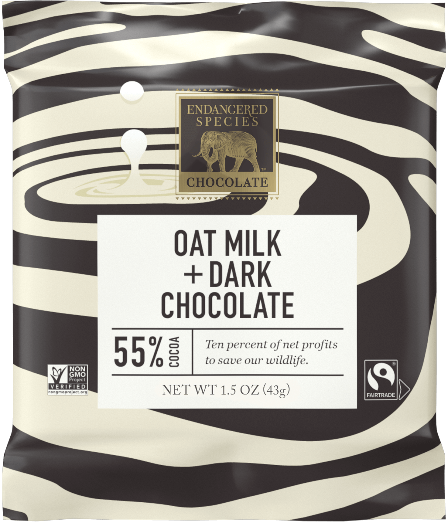 Candy Bar Zebra 55% Dark Chocolate + Oat Milk