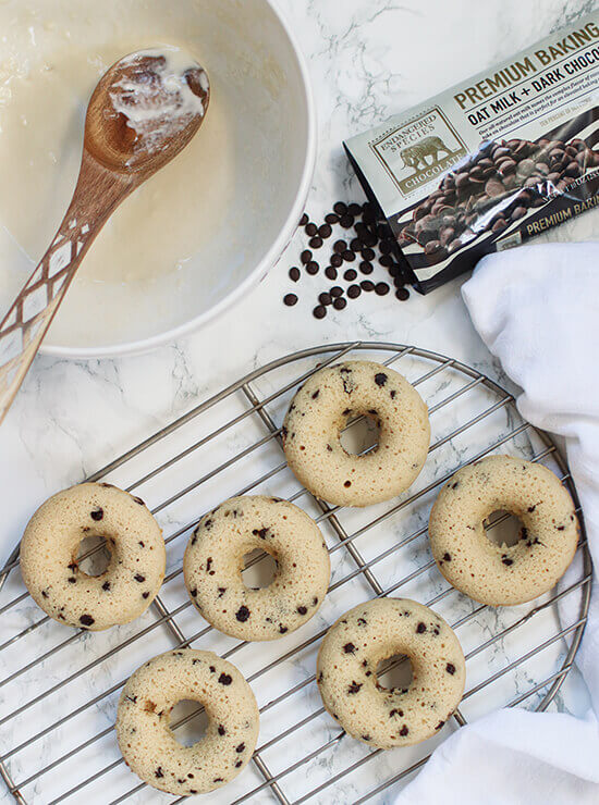 Oat Milk chocolate chip donuts