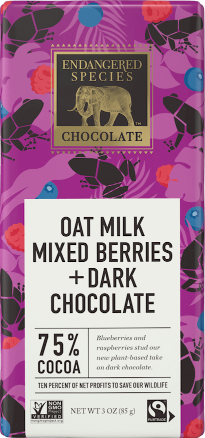 75% Dark Chocolate + Oat Milk & Mixed Berries