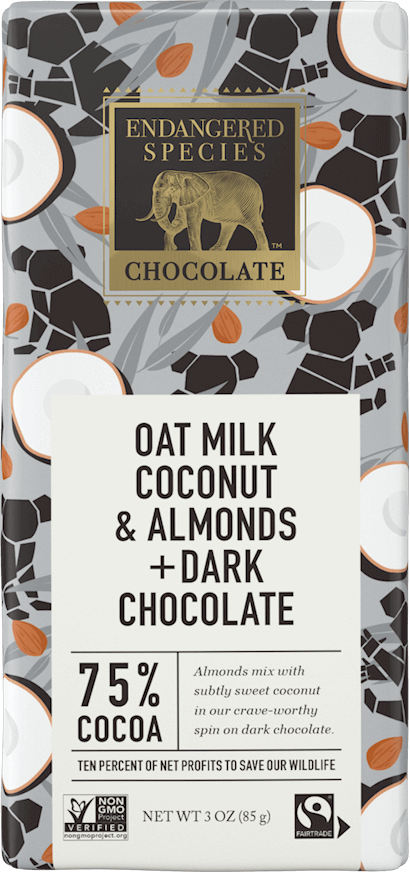 75% Dark Chocolate + Oat Milk Coconut & Almonds