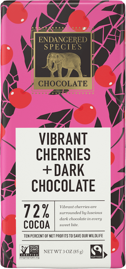 72% Dark Chocolate + Cherries