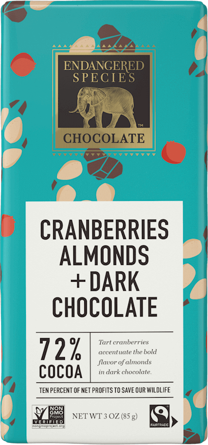 72% Dark Chocolate + Cranberries & Almonds